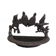 Rustic Iron Wall Mounted Bird Bath