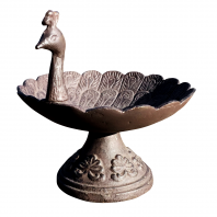 Rustic Peacock Bird Bath