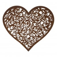 Rustic Scroll Pattern Heart Wall Art