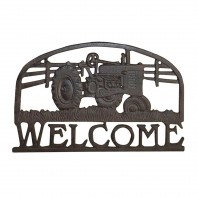 Rustic Tractor Welcome Sign