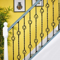 """Cavendish"" Double Basket Single Fine Twist Stair Spindle"
