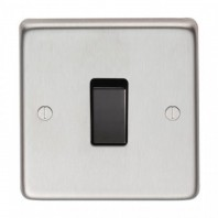 Satin Stainless Steel 10 Amp Single Light Switch