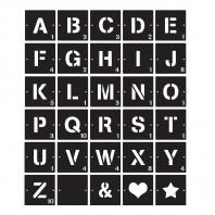 Individual Scrabble Squares Letters & Symbols- Black