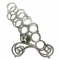 """Lady Clemence"" Scroll Design Wine Rack"