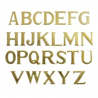 "3"" Letters Solid Brass Self Adhesive"