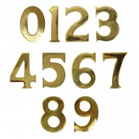 "3"" Self Adhesive Solid Brass Numbers"