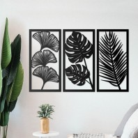 Tropical Leaf Wall Art- Set of Three