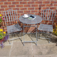 """Shabby Chic"" Grey Two Seat Table Set"