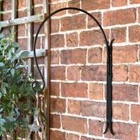 'Shepherds Crook'  Hanging Basket Wall Bracket - Black
