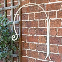 'Shepherds Crook' Wall Bracket for Hanging Baskets - Cream