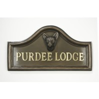 Areya Siamese Cat House Name Plaque