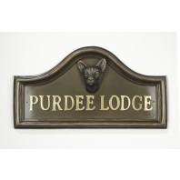 Areya Siamese Cat House Name Plaque