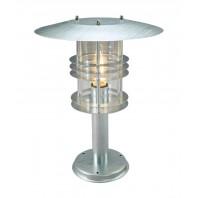 """""""Kampen"""" Silver Contemporary Industrial Pillar Light 47cm"""