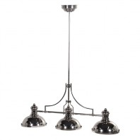 Silver 'Pool Table' Hanging Light