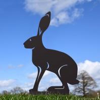 Black Simplistic Sitting Hare Silhouette