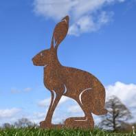 Rustic Simplistic Sitting Hare Silhouette