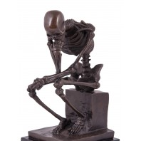 Pensive Skeleton Ornament