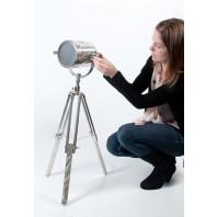 Small aluminium free standing spot light