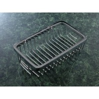 Small Chrome Oblong Soap Basket