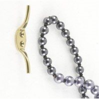 """Beckwith""  Standard Brass Curtain Tie Back"