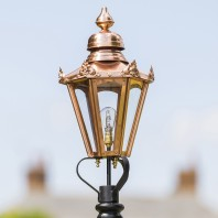 Copper Hexagonal Lantern 63cm