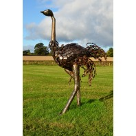 Small Ostrich Walking Sculpture