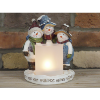 Snowmen Candle Holder