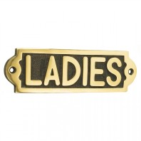 Solid Brass Ladies Toilet Sign