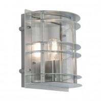 """Solnä"" Contemporary Flush Galvanized Steel Wall Light"