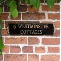 """The Huntingdon"" Modern Brass Sign"