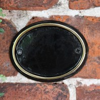 Blank Brass & Black Oval House Number Plaque