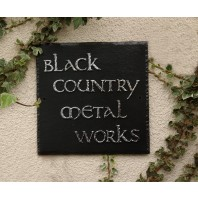 """Meadow View"" Square Slate House Name Sign"