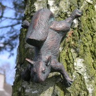 Squirrel Climbing Tree Garden Ornament
