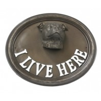 House Sign - Staffordshire Bull Terrier - I Live Here