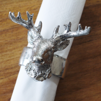 Silver Stag Napkin Holder