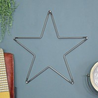 Steel Star Wall Art by Garden Trading