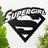 'Supergirl' Wall Art - Black