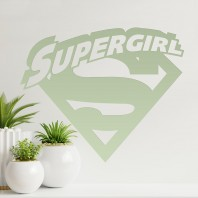 'Supergirl' Wall Art - Light Green