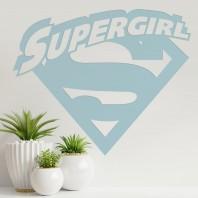 'Supergirl' Wall Art - Light Blue