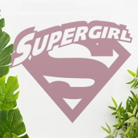 'Supergirl' Wall Art - Dusk Pink