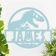 Dino Name Wall Art- Light Blue