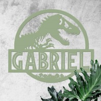 Dino Name Wall Art - Green