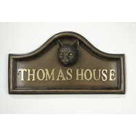 Tabby Cat House Name Plaque