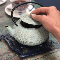 The 'Bamboo' Cast Iron Teapot