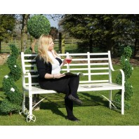 """The Brierley"" Wrought Iron Garden Bench"