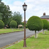 """The Ruxton"" Bronze Manor Style Garden Lamp Post 2.4m"