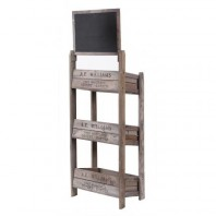 Three Tier Crate Display Stand With Chalk Board
