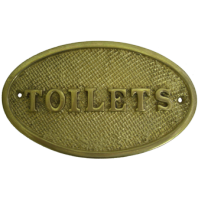 Brass Toilet Signs