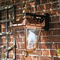 Large Copper Hanging Wall Lantern 63 x 47.5cm