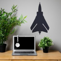 Black 'Tornado' Jet Wall Art